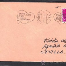 Sellos: 1973 RODILLO 73 BARCELONA CIRCULADO, AVION, 1948-1973 PAN AM 25 AÑOS ENLACE ESPAÑA - USA, . Lote 37813047