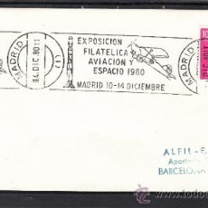 Sellos: 1980 RODILLO 118 MADRID, AVION, EXPOSICIO FILATELICA AVIACION Y ESPACIO 1980. Lote 37742256