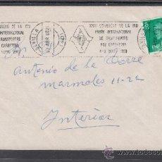Sellos: 1980 RODILLO 36 SEVILLA CIRCULADO, XVII CONGRESO DE LA IRU, UNION INTER DE TRANSPORTE POR CARRETERA. Lote 37745312