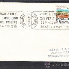 Sellos: 1980 RODILLO 27 RIVADAVIA (ORENSE), VINOS, VISITE RIBADAVIA EN SU XVII FERIA EXP. VINOS DEL RIBEIRO. Lote 37745361