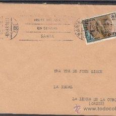 Sellos: 1980 RODILLO 18 MALAGA CIRCULADO, VISITE MALAGA EN SEMANA SANTA . Lote 37745510