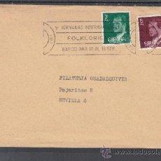 Sellos: 1979 RODILLO 61 BARCELONA CIRCULADO, MUSICA, VI JORNADAS INTERNACIONALES FOLKLORICAS . Lote 37745721
