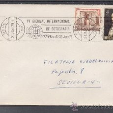 Sellos: 1979 RODILLO 38 REUS (TARRAGONA) CIRCULADO, EUROPA 79, IV BIENAL INTERNACIONAL DE FOTOGRAFIA, . Lote 37749568