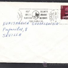Sellos: 1978 RODILLO 44 BILBAO CIRCULADO, VISITE EXPOSICION FILATELICA EXFILNA 78, JORNADAS FILATELICAS . Lote 37754881