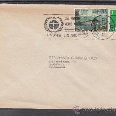 Sellos: 1977 RODILLO 62 BARCELONA CIRCULADO, PNUMA, DIA MUNDIAL MEDIO AMBIENTE, CIMA . Lote 37773524
