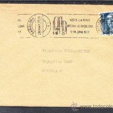 Sellos: 1977 RODILLO 55 BARCELONA CIRCULADO, FIB, VISITE LA FERIA INTERNACIONAL DE BARCELONA, . Lote 37773604
