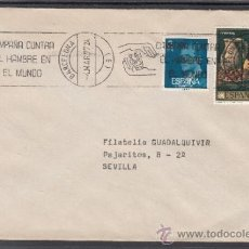 Sellos: 1977 RODILLO 15 BARCELONA CIRCULADO, CAMPAÑA CONTRA EL HAMBRE EN EL MUNDO, . Lote 37773908