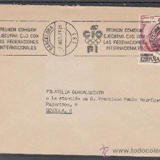 Sellos: 1976 RODILLO 93 BARCELONA CIRCULADO, REUNION COMISION EJECUTIVA C.I.O. CON LA FEDERACION INTERNACI. Lote 37789306