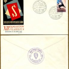 Sellos: XII EXPOSICION FILATELICA DEL SINDICATO PROVINCIAL DEL SEGURO 1965. Lote 37744766