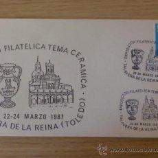 Sellos: SOBRE CON MATASELLOS DE TALAVERA DE LA REINA, TOLEDO. 1987. EXPO. FILAT. CERAMICA.. Lote 37818049