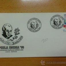 Sellos: SOBRE CON MATASELLOS DE CADIZ. 1993. JOSE CELESTINO MUTIS. PHILA IBERICA´93.. Lote 37884197