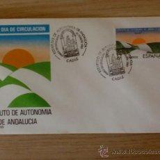 Selos: SOBRE CON MATASELLOS. CADIZ. 1983. PRIMER DIA DE CIRCULACION. ESTATUTO DE AUTONOMIA DE ANDALUCIA.. Lote 38142386