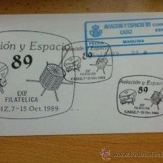 Sellos: SOBRE CON MATASELLOS. CADIZ. 1989. EXPO. FILAT. AVIACION Y ESPACIO 89.. Lote 38219393