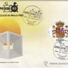 Sellos: SOBRE MATASELLOS MADRID 1983 EXPO OCIO FERIA DEL TIEMPO LIBRE . Lote 38436536