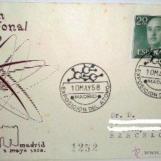 Sellos: SOBREPRIMER DIA DE EXPOSICION INTERNACIONAL DEL ATOMO,MADRID 5 DE MAYO DE 1958. Lote 39444512