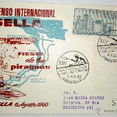 Sellos: SOBRE PRIMER DIA XXIV DESCENSO INTERNACIONAL DEL SELLA ( FIESTA DE LAS PIRAGUAS,(RIBADESELLA ). Lote 39460639