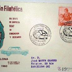 Sellos: SOBRE PRIMER DIA .II EXPOSICION FILATELICA DEL GRUPO DE EMPRESA-SEAT- DE EDUCACION Y DESCANSO. Lote 39461383