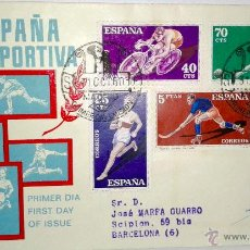 Sellos: SOBRE PRIMER DIA DE ESPAÑA DEPORTIVA DE 31 OCTUBRE DE 1960. Lote 39461427