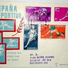 Sellos: SOBRE PRIMER DIA DE ESPAÑA DEPORTIVA DE 31 OCTUBRE DE 1960. Lote 39461458
