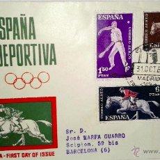 Sellos: SOBRE PRIMER DIA DE ESPAÑA DEPORTIVA DE 31 OCTUBRE DE 1960. Lote 39461490