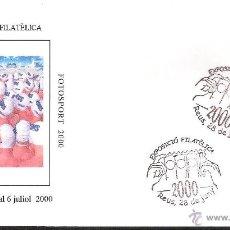 Sellos: MATASELLOS CONMEMORATIVO FOTOSPORT 2000 REUS. Lote 39901125