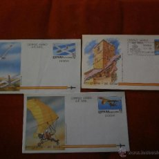 Briefmarken - LOTE DE TRES AEROGRAMAS ( 2 AÑO 1985***-1 AÑO AÑO 1986 PRIMER DIA DE CIRCULACION ) AVIONES-AEREO - 40076647