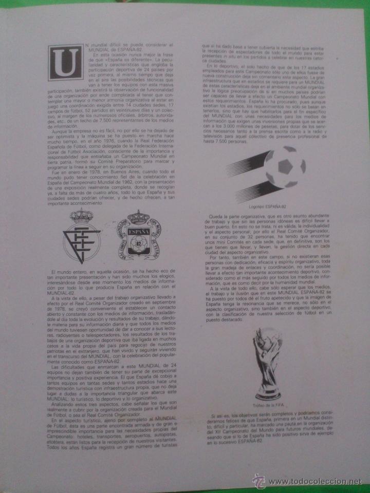 Sellos: Hoja conmemorativa Mundial 82 fútbol. Hoja bloque con 4 sellos con Matasellos La Coruña. - Foto 4 - 40242889