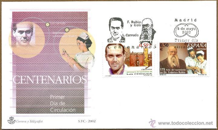 SOBRE PRIMER DIA (SPD) - CENTENARIOS ED. 3894/95 (Sellos - Historia Postal - Sello Español - Sobres Primer Día y Matasellos Especiales)