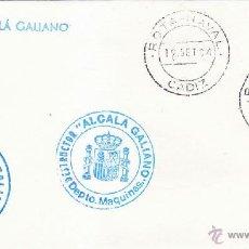Sellos: BARCOS MARCA DESTRUCTOR ALCALA GALIANO, ROTA NAVAL (CADIZ) 1984. MATASELLOS EN SOBRE. RARO ASI.. Lote 125443404