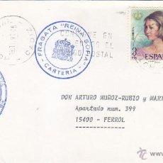 Sellos: BARCOS MARCA FRAGATA REINA SOFIA CARTERIA, ROTA NAVAL (CADIZ) 1991. MATASELLOS EN CARTA. RARO ASI.. Lote 125443500