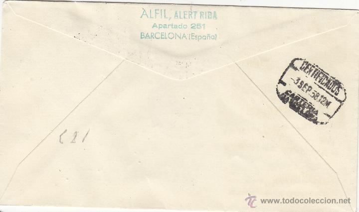 Sellos: SOBRE matasellos : IV CONGRESO INTERNACIONAL DE PSICOTERAPIA, BARCELONA 1958 . MEDICINA circulado - Foto 2 - 40887433