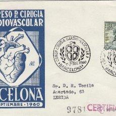 Sellos: SOBRE MATASELLOS MEDICINA: IX CONGRESO DE CIRUGIA CARDIOVASCULAR, BARCELONA 1960 . CIRCULADO . Lote 40896670