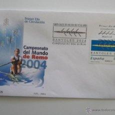 Sellos: ESPAÑA. 4064 SPD CAMPEONATO REMO EN BAÑOLAS. MATASELLO: 9 FEBRERO 2004. Lote 41070345