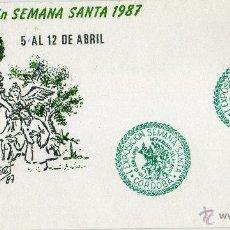 Sellos: RARO MATASELLO VERDE I EXPOSICION SEMANA SANTA 1987. HDAD.DEL HUERTO. CORDOBA. Lote 41386137