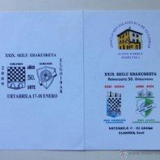 Briefmarken - ELGOIBAR 2009 - 50 ANIV. SDAD. AJEDRECISTA ZUBI-ONDO Y SDAD. CICLISTA GURE-BIDE - AJEDREZ Y CICLISMO - 41388185
