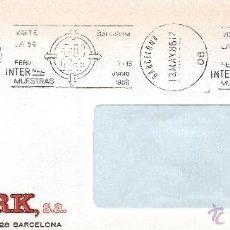 Sellos: VISITE LA 54 FERIA INTERNACIONAL DE MUESTRAS. RODILLO. BARCELONA JUNIO 1986. Lote 41410829
