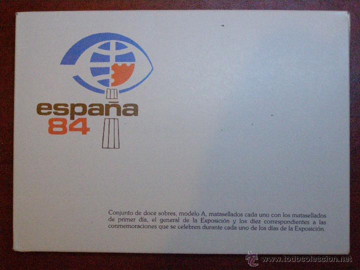 ESPAÑA 84 - PACK - 10 SOBRES PRIMER DIA DE CIRCULACIÓN - S.F.C A 621 - 27 ABRIL A 6 DE MAYO 1984 (Sellos - Historia Postal - Sello Español - Sobres Primer Día y Matasellos Especiales)