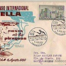 Sellos: SOBRE ALFIL XXIV DESCENSO INTERNACIONAL DEL SELLA FIESTA DE LAS PIRAGUAS RIBADESELLA 1960. Lote 41594044