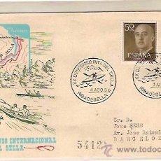 Sellos: SOBRE ALFIL XX DESCENSO INTERNACIONAL DEL SELLA FIESTA DE LAS PIRAGUAS RIBADESELLA 1956. Lote 41594267