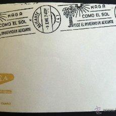 Selos: SOBRE FILATELICO MATASELLO RODILLO. HAGA COMO EL SOL PASE EL INVIERNO EN ALICANTE. ALICANTE 1974.. Lote 41683735