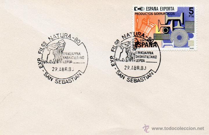 Expo Natura expo natura 1980 san sebastian comprar sobres primer día y