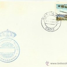 Sellos: TARJETA CON MATASELLOS. ROTA NAVAL. 1983. SUBMARINO S-32, COMANDANCIA.. Lote 42294502