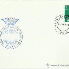 Sellos: TARJETA CON MATASELLOS. SAN FERNANDO NAVAL. 1981. PORTAHELICOPTEROS DEDALO, FLOTA.. Lote 42294738