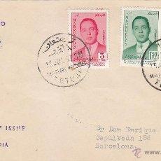 Sellos: MARRUECOS ZONA NORTE MOULAY HASSAN PRINCIPE HEREDERO 1957 (EDIFIL 24/26) EN SPD CIRCULADO. MUY RARO.. Lote 42678799