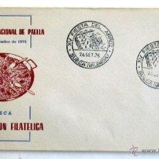 Sellos: SOBRE FILATELICO XV CONCURSO NACIONAL DE PAELLA. SUECA 1975.. Lote 178079037