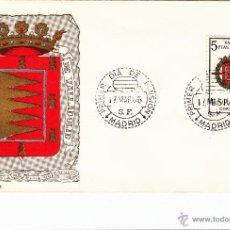 Sellos: ESPAÑA 1966 - SOBRE PRIMER DIA SPD - FDC - ESCUDO DE VALLADOLID. Lote 43166624