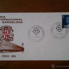 Sellos: ANTIGUO SOBRE FERIA INTERNACIONAL DE BARCELONA 1981. Lote 43255761