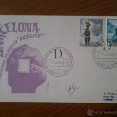 Sellos: ANTIGUO SOBRE IV EXPOSICION FILATELICA DESLITE BARCELONA 1965. Lote 43255808