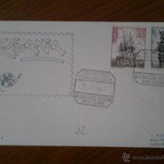 Sellos: ANTIGUO SOBRE FERIA INTERNACIONAL MUESTRAS BARCELONA 1965. Lote 43255822