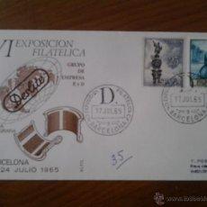 Sellos: ANTIGUO SOBRE VI EXPOSICION FILATELICA DESLITE BARCELONA 1965. Lote 43255832